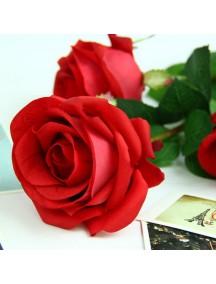 HF1203 - Bunga Mawar Dekorasi Batangan