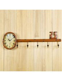 HF1284 - Jam Dinding Retro Model Kunci Dengan Hanger