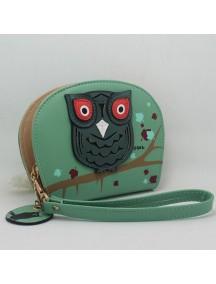 HO2666D - Dompet Fashion Burung Hantu (Hijau)