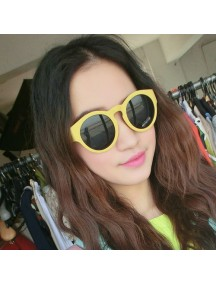 HO2449B - Kacamata Fashion Korea Cute ( Kuning ) #C58