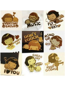 WA2451K - Sticker Anti Radiasi Korea Gold 24K (Cheer Up!)