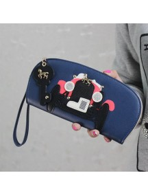 HO2662 - Dompet Fashion Mobil Retro (Biru)