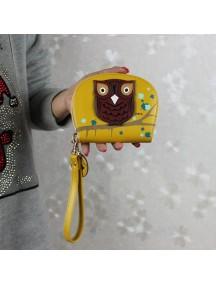 HO2666 - Dompet Fashion Burung Hantu (Kuning)