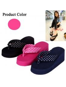 HO2668D - Sendal Fashion Polkadot Pink ( Size 39 )