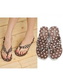 HO2694 - Sandal Polkadot Coklat ( Size 36 )