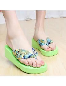 HO2697D - Sandal Fashion Bunga Pic ( Size 39 )