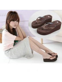 HO2700D - Sandal Fashion Manik Coklat ( Size 39 )