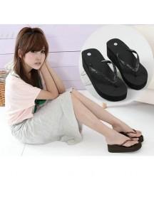 HO2701D - Sandal Fashion Manik Hitam ( Size 39 )
