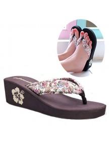 HO2711B - Sandal Fashion Bunga ( Size 38 )