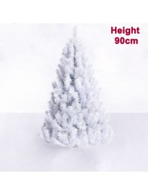 PHO2755 - Pohon Natal White Christmas Tree Alaska Snow (Tinggi 90cm)