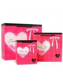 HO2850D - Gift Bag Heart Diamond Fashion 12.5 * 7 * 15 Cm
