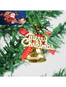 HO2879 - Aksesoris Lonceng Pohon Natal Christmas isi 6pc (Gold)