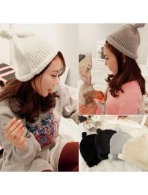 HO2889 - Topi Fashion Winter Wool (Black)