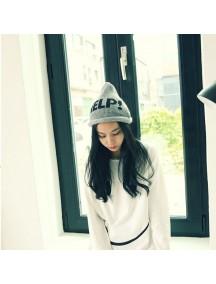 HO2894 - Topi Fashion Winter Wool HELP (Grey)