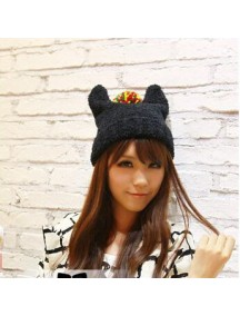 HO2898 - Topi Fashion Winter Wool (Black)
