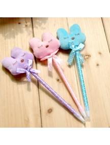 HO2951B - Pen Cute Bear Kelinci Biru 0,5mm (Pink)