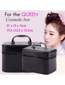 HO3007 - Cosmetic / Make Up Box Leather 2pc Large + Medium