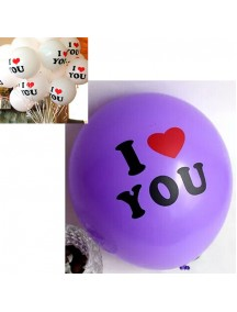 HO3042 - Balon Dekorasi Valentine / Wedding isi 3pc (Ungu)