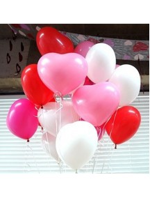 HO3044 - Balon Dekorasi Valentine / Wedding isi 4pc (Merah)