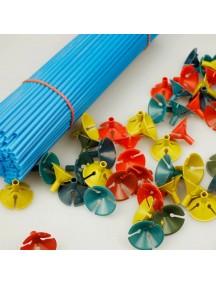 HO3045 - Tangkai Balon Dekorasi Party (Random) Set Isi 3 Pcs