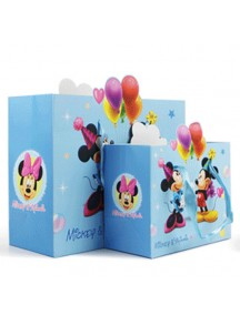 HO3145 - Gift Bag Micky Mini DIsney Fashion  24,2 * 31 * 12 Cm