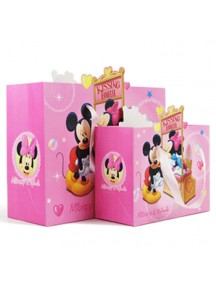 HO3146 - Gift Bag Micky Mini DIsney Fashion  24,2 * 31 * 12 Cm