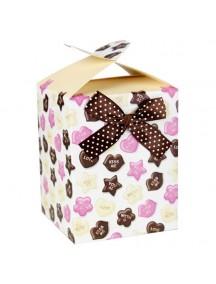 HO3195B - Gift Bag Kotak Dengan Pita Fashion 10 * 12.7 * 10 Cm