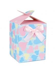 HO3195D - Gift Bag Kotak Dengan Pita Fashion 10 * 12.7 * 10 Cm
