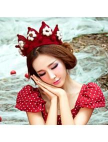 HO3217 - Topi Wool Crown (Merah)