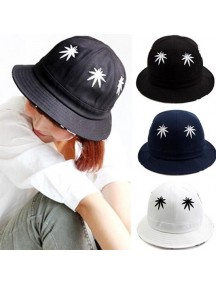 HO3279 - Topi Bucket Hat Maple Leaf (Black)