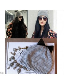 HO3282 - Topi Wool With Bow (Grey)