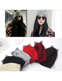 HO3283 - Topi Wool With Bow (Black)