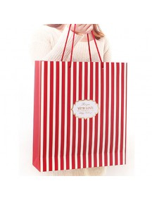 HO3506 - Gift Bag Fashion Strip 33 * 37.5 * 9.5 Cm