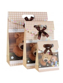 HO3509 - Gift Bag Fashion Teddy Bear 31.5 * 13 * 24.5 Cm