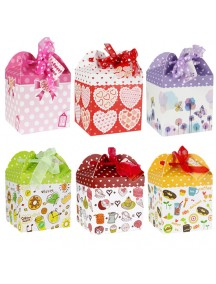 HO3510 - Gift Bag Fashion ( Mix Color - 12 Pcs) 11 * 10.5 * 10.5 Cm