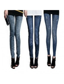 HO3532 - Leging Model Jeans ( HITAM - Random Model )