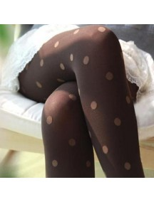 HO3536 - Stocking Fashion Dot ( Coklat )