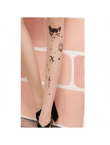 HO3542N - Stocking Fashion Tatoo Kucing