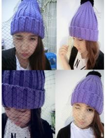 HO3648 - Topi Wool Trend Fashion (Ungu)