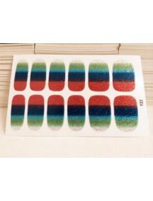 HO3762- Sticker Kuku Gradient Glitter Y22