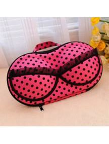 WA2200 - Travel Underwear & Bra Storage Bag Polkadot Besar ( Ungu )