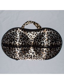 WA2200D - Travel Underwear & Bra Storage Bag ( Leopard )