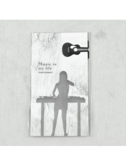 WA1350 - Pembatas Buku Stainless + Kartu Memo (Gitar)