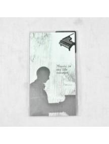 WA1352 - Pembatas Buku Stainless + Kartu Memo (Piano)