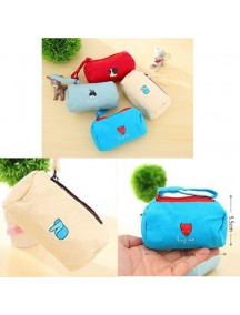 WA2289C - Dompet Serbaguna Animal Cute ( Cream ) #C40