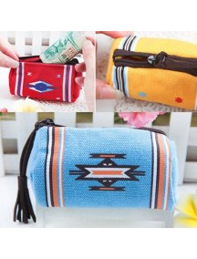 WA2300 - Dompet Indian Wind Silinder ( Biru Muda ) #C41