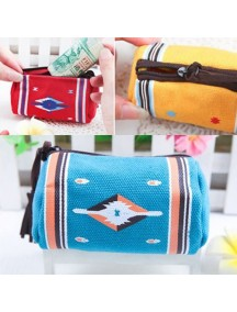 WA2300C - Dompet Indian Wind Silinder ( Biru Tua ) #C41