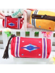 WA2300D - Dompet Indian Wind Silinder ( Merah ) #C41