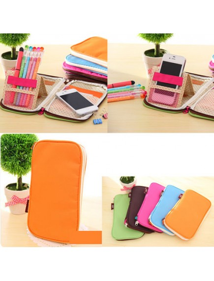 WA2304 - Dompet Color Multifungsi (ORANGE)