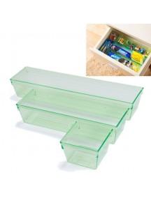 WA2379 - Storage Box Serbaguna 3 Pcs ( Hijau ) #HM